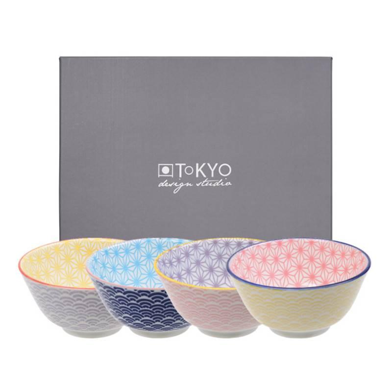 Tokyo Design Studio Tokyo Design Studio Star Wave Kommen Ø 12 cm - set van 4
