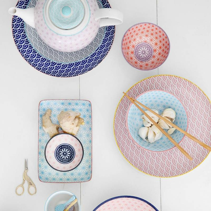 Tokyo Design Studio Assiettes Star Wave de Tokyo Design Studio Ø 16cm - lot de 6 - Multicolore