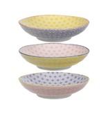 Tokyo Design Studio Tokyo Design Studio Star Wave Pastaborden Ø 21 cm - set van 3 - Meerkleurig