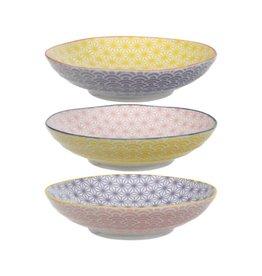 Tokyo Design Studio Assiettes à pâtes Star Wave de Tokyo Design Studio Ø 21cm - lot de 3 - Multicolore