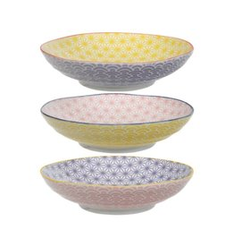 Tokyo Design Studio Tokyo Design Studio Star Wave Pasta Plates Ø 21 cm - Mulitcolor - Set of 3