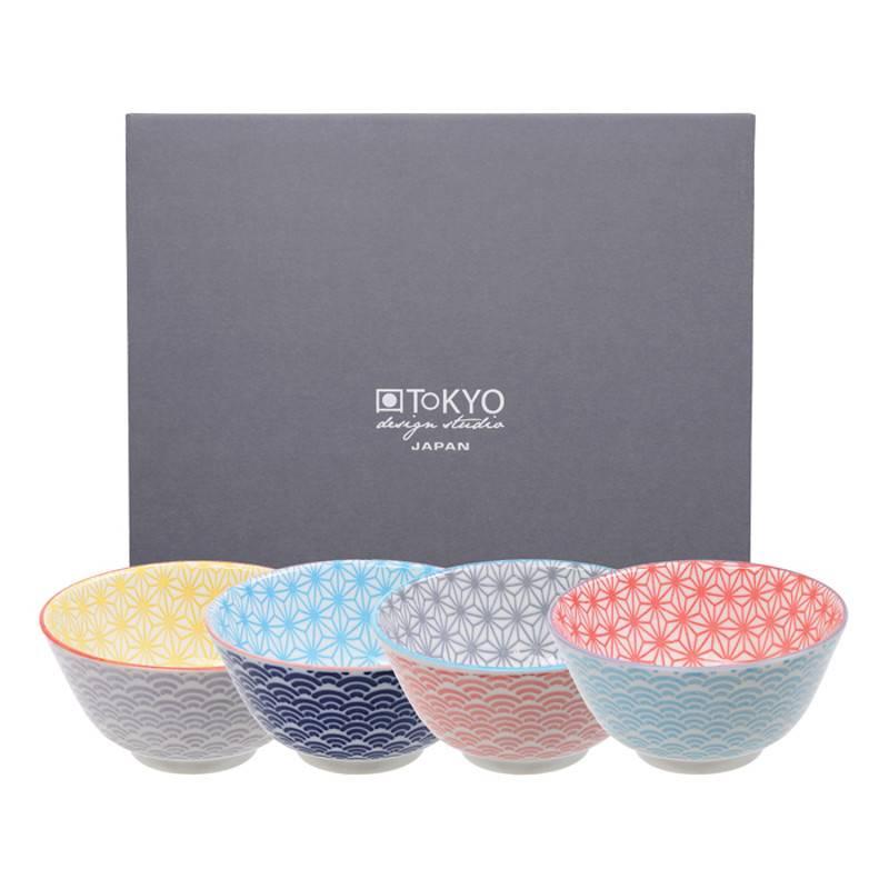 Tokyo Design Studio Bols Star Wave de Tokyo Design Studio Ø 12cm - lot de 4 - Multicolore