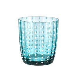 Livellara Livellara CARNIVAL Glas / Tumbler Turquoise – Set van 6