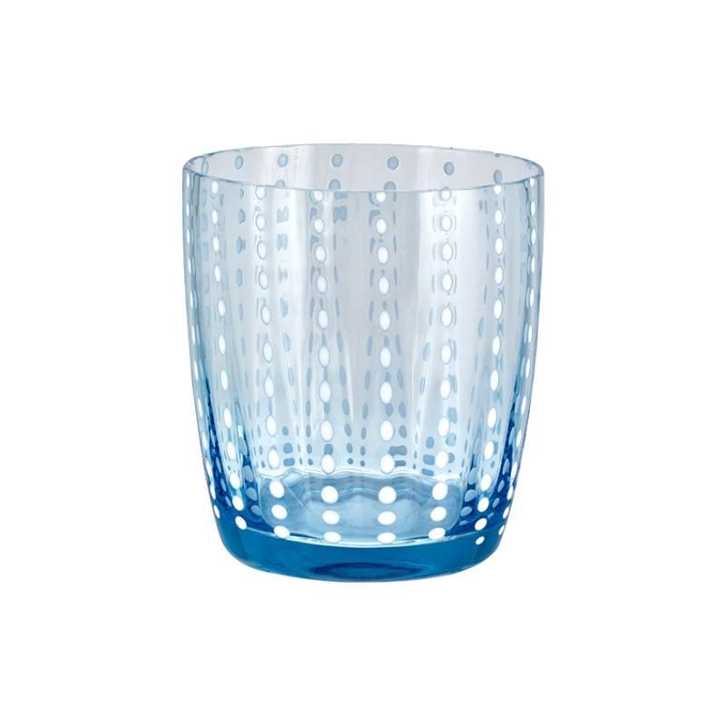 Livellara Livellara CARNIVAL Glas / Tumbler  Hemelsblauw – Set van 6