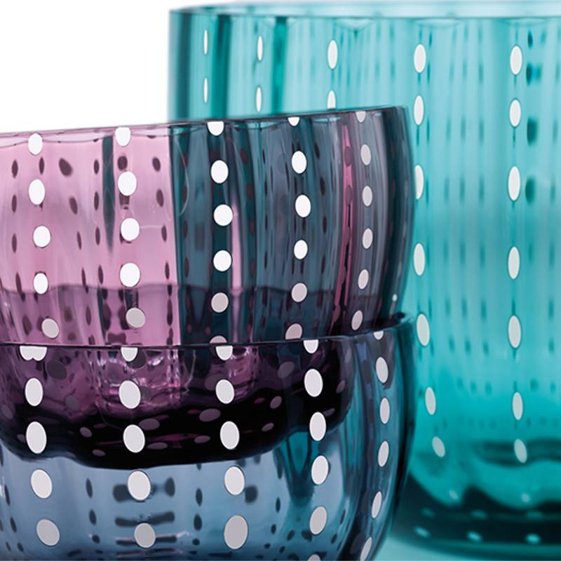 Livellara Livellara Carnival Glass Ink Blue – Set of 6