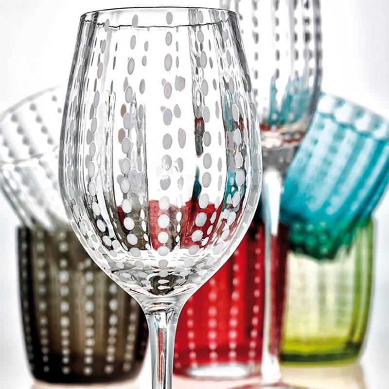Livellara Livellara Carnival Glass Grey – Set of 6