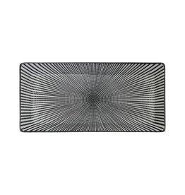 Tokyo Design Studio Tokyo Design Studio Sendan Tokusa Black Rechthoekig Bord 23 x 11,5 cm