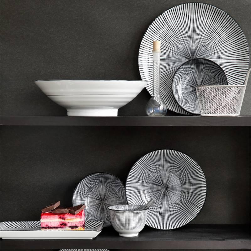 Tokyo Design Studio Tokyo Design Studio Sendan Tokusa Black Rechthoekig Schaaltje 9,5 x 7 cm