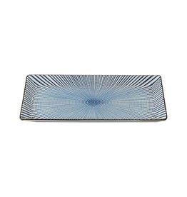 Tokyo Design Studio Tokyo Design Studio Sendan Tokusa Blue Rechthoekig Bord 23 x 11 cm