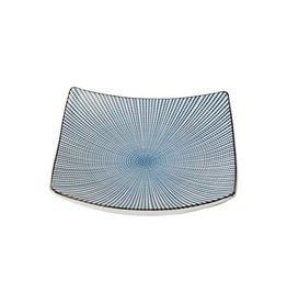 Tokyo Design Studio Tokyo Design Studio Sendan Tokusa Blue Vierkant Bord 18,8 x 18,8 cm