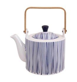 Tokyo Design Studio Tokyo Design Studio New Nippon Blue Teapot 1,3 Liter with wooden Handle