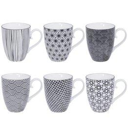 Tokyo Design Studio Tokyo Design Studio New Nippon Black Set of 6 Mugs 380 ml