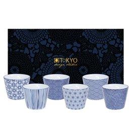 Tokyo Design Studio Coffret de 6 Tasses sans anse 180 ml New Nippon Blue de Tokyo Design Studio