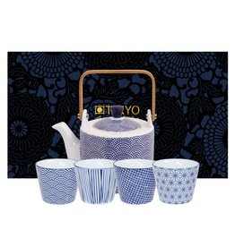 Tokyo Design Studio Tokyo Design Studio New Nippon Blue 5 piece Tea Set
