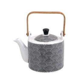 Tokyo Design Studio Tokyo Design Studio New Nippon Black Teapot 0,8 Liter with wooden Handle