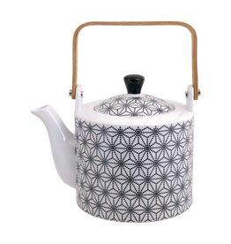 Tokyo Design Studio Tokyo Design Studio New Nippon Black Teapot 1,3 Liter with wooden Handle