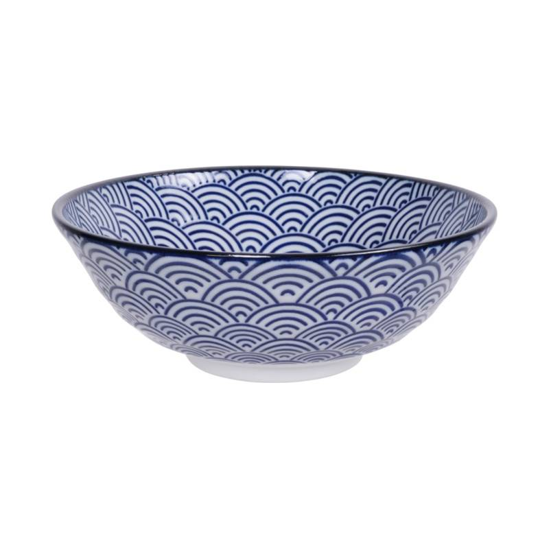 Tokyo Design Studio Servies.Tokyo Design Studio New Nippon Blue Bowl O 21 Cm