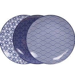 Tokyo Design Studio Tokyo Design Studio New Nippon Blue 3-er Set Teller Ø 25,7 cm