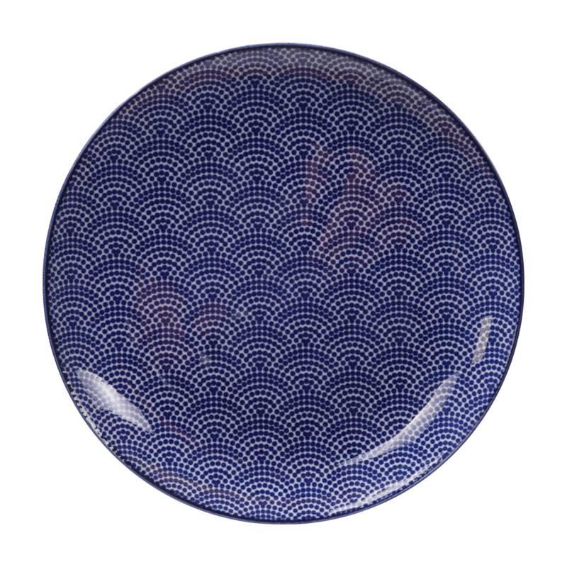 Tokyo Design Studio Tokyo Design Studio New Nippon Blue Set van 3 Borden Ø 25,7 cm