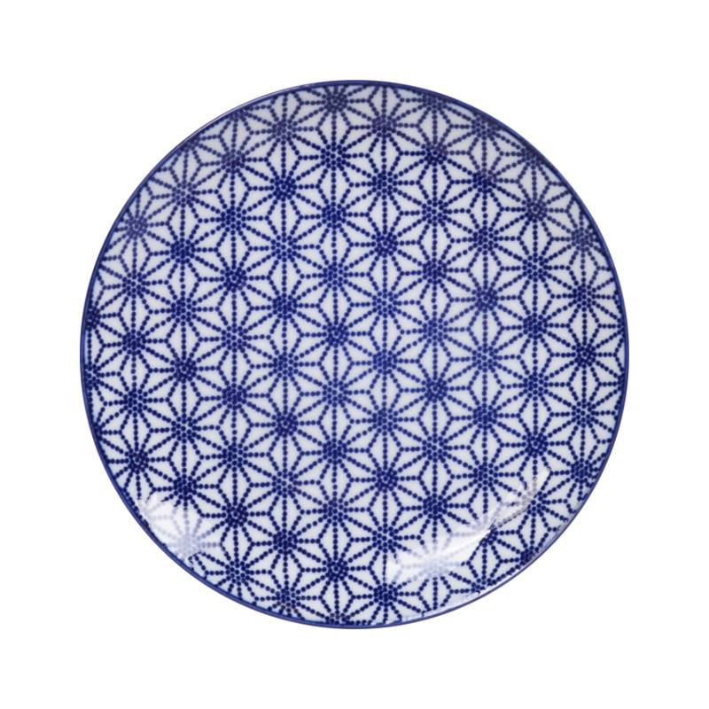 Tokyo Design Studio Tokyo Design Studio New Nippon Blue Set van 3 Borden Ø 20,6 cm