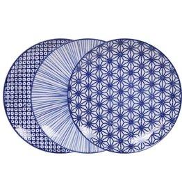 Tokyo Design Studio Tokyo Design Studio New Nippon Blue Set of 3 Plates Ø 20.6 cm