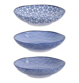 Tokyo Design Studio Tokyo Design Studio New Nippon Blue 3-er Set Pasta Teller Ø 21 cm