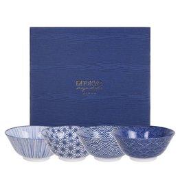 Tokyo Design Studio Tokyo Design Studio New Nippon Blue 4-er Set Schalen Ø 15,2 cm
