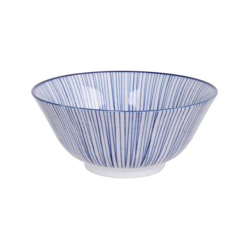 Tokyo Design Studio Tokyo Design Studio New Nippon Blue Set of 4 Bowls Ø 15,2 cm in beautiful gift box