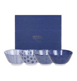 Tokyo Design Studio Coffret de 4 Bols Ø 12 cm New Nippon Blue de Tokyo Design Studio