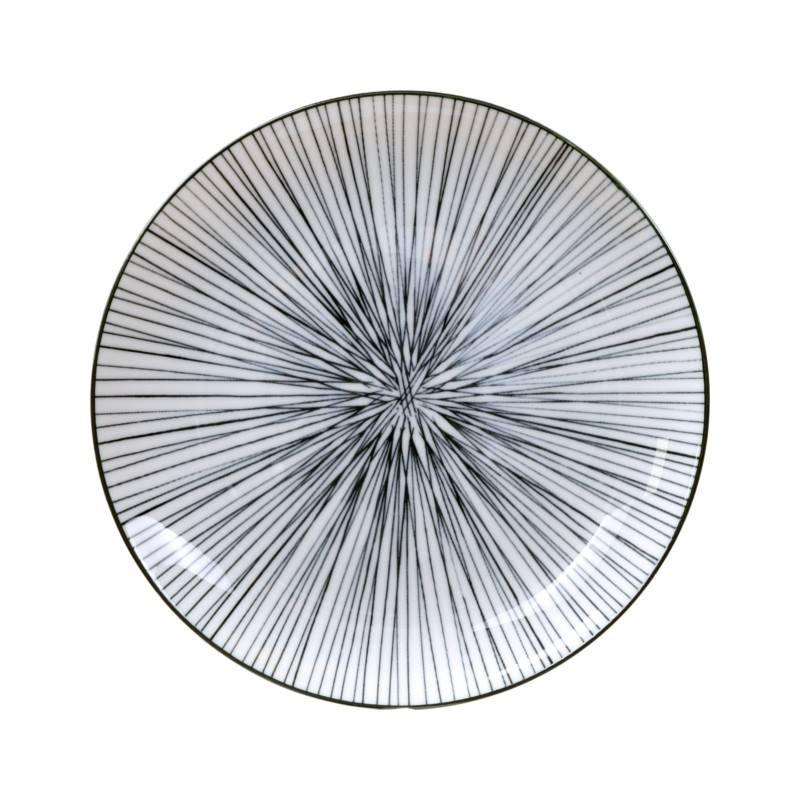 Tokyo Design Studio Coffret de 3 Assiettes Ø 20,6 cm New Nippon Black de Tokyo Design Studio