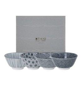 Tokyo Design Studio Coffret de 4 Bols Ø 12 cm New Nippon Black de Tokyo Design Studio