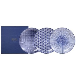 Tokyo Design Studio Tokyo Design Studio New Nippon Blue 3-er Set Teller Ø 20,6 cm