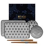 Tokyo Design Studio Tokyo Design Studio New Nippon Black Sushi Servies Set – 6-delig