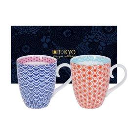 Tokyo Design Studio Tokyo Design Studio Star Wave Set of 2 Mugs 380 ml