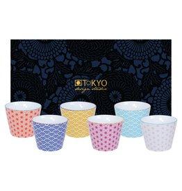 Tokyo Design Studio Tokyo Design Studio Star Wave Set of 6 Cups 180 ml