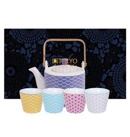 Tokyo Design Studio Tokyo Design Studio Star Wave 5 piece Tea Set