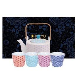 Tokyo Design Studio Coffret Théière 0,8 l avec 4 Tasses à Thé Star Wave de Tokyo Design Studio