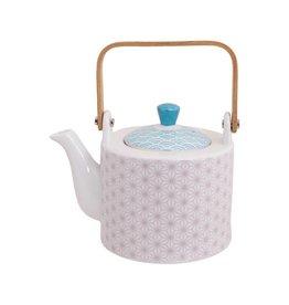 Tokyo Design Studio Tokyo Design Studio Star Wave Teapot 0.8 Liter with Wooden Handle