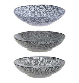 Tokyo Design Studio Tokyo Design Studio New Nippon Black 3-er Set Pasta Teller Ø 21 cm