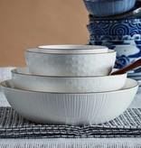 Tokyo Design Studio Tokyo Design Studio Nippon White Kuchenplatte mit passenden Tellern - 5-teilig - für 4 Personen