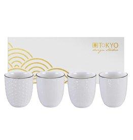 Tokyo Design Studio Coffret 4 Tasses à Thé 200 ml Nippon White de Tokyo Design Studio
