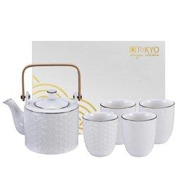 Tokyo Design Studio Tokyo Design Studio Nippon Teapot 0.8 Liter with 4 Teacups 200 ml