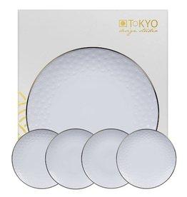 Tokyo Design Studio Tokyo Design Studio Nippon White Kuchenplatte mit passenden Tellern
