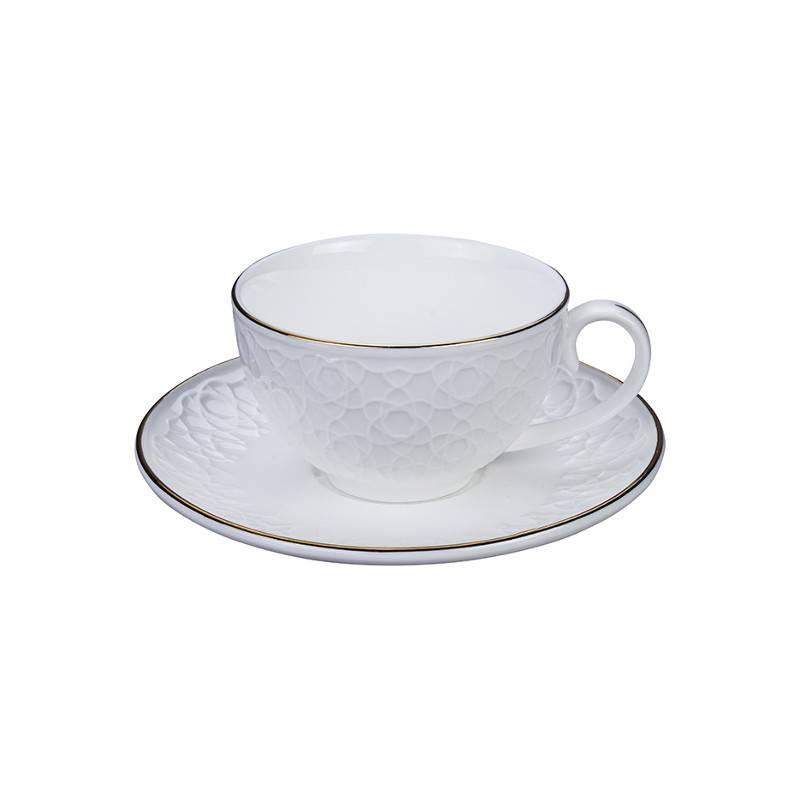 Tokyo Design Studio Tokyo Design Studio Nippon White Set van 4 Koffie Koppen en Schotels - in fraaie Geschenkdoos