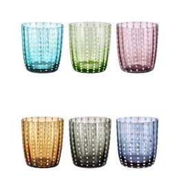 Livellara Livellara Carnival Glas – 6-er Set – Mix aus 6 verschiedenen Farben