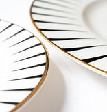 Yvonne Ellen Yvonne Ellen London Monochrome Set de 1 Assiette Ø 26,5 cm et 1 Assiette Ø 16 cm - Baleine - Bone China Porcelaine - Boîte Cadeau