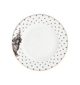Yvonne Ellen London Monochrome Set van 2 Borden Ø 16 cm - Teckel - Porselein