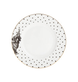Yvonne Ellen Yvonne Ellen London Monochrome Set of 2 Plates Ø 16 cm - Sausage Dog - Bone China