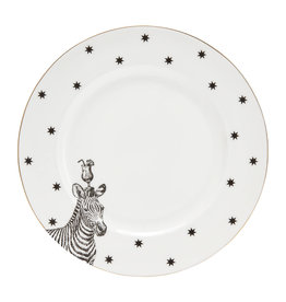Yvonne Ellen London Monochrome Set of 2 Dinner PLates Ø 26,5 cm - Zebra - Bone China