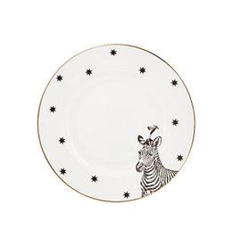 Yvonne Ellen London Monochrome Set de 2 Assiette Ø 16 cm - Zèbre - Porcelaine